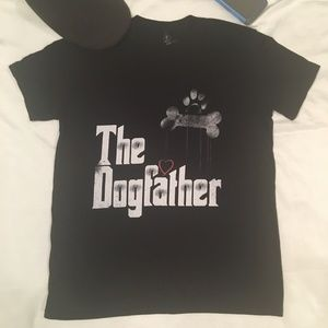 """Graphic """"The Dogfather"""" printed T-Shirt"""